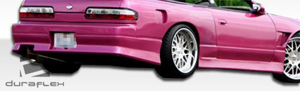 Duraflex V-Speed Side Skirts Rocker Panels - 2 Piece - Duraflex 100887