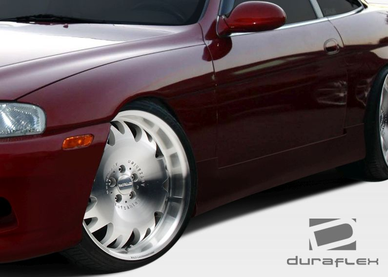 Duraflex O-Design Side Skirts Rocker Panels - 2 Piece - Duraflex 106586