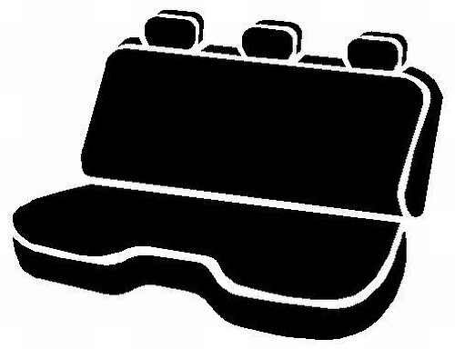 Fia Wrangler Series 2nd Row Black Seat Covers - Fia TR42-40 BLACK