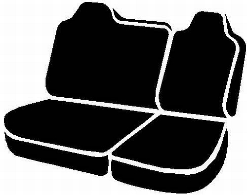 Fia Wrangler Series 2nd Row Black Seat Covers - Fia TR42-42 BLACK