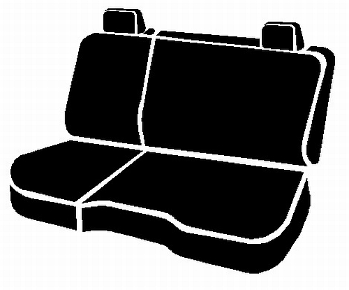 Fia Wrangler Series 2nd Row Black Seat Covers - Fia TR42-94 BLACK