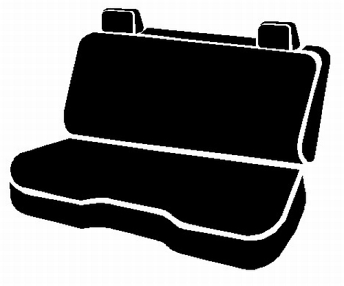 Fia Wrangler Series 2nd Row Black Seat Covers - Fia TR42-95 BLACK