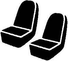 Fia LeatherLite Series 1st Row Red Seat Covers - Fia SL68-14 RED