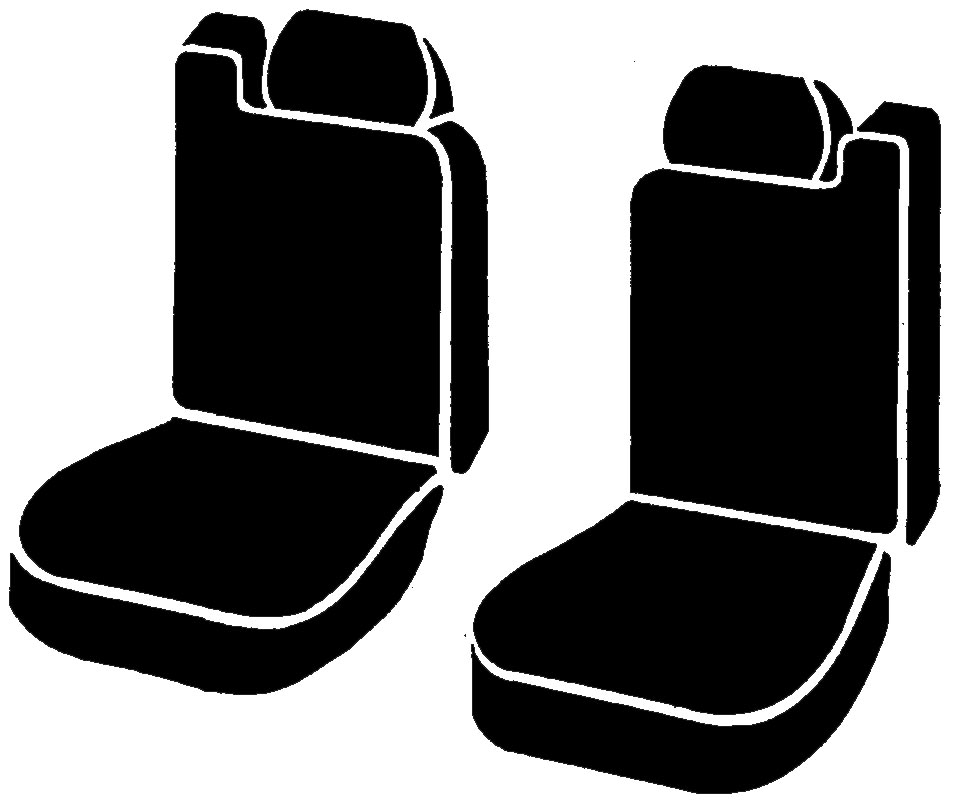 Fia LeatherLite Series 1st Row Black Seat Covers - Fia SL68-15 BLK/BLK
