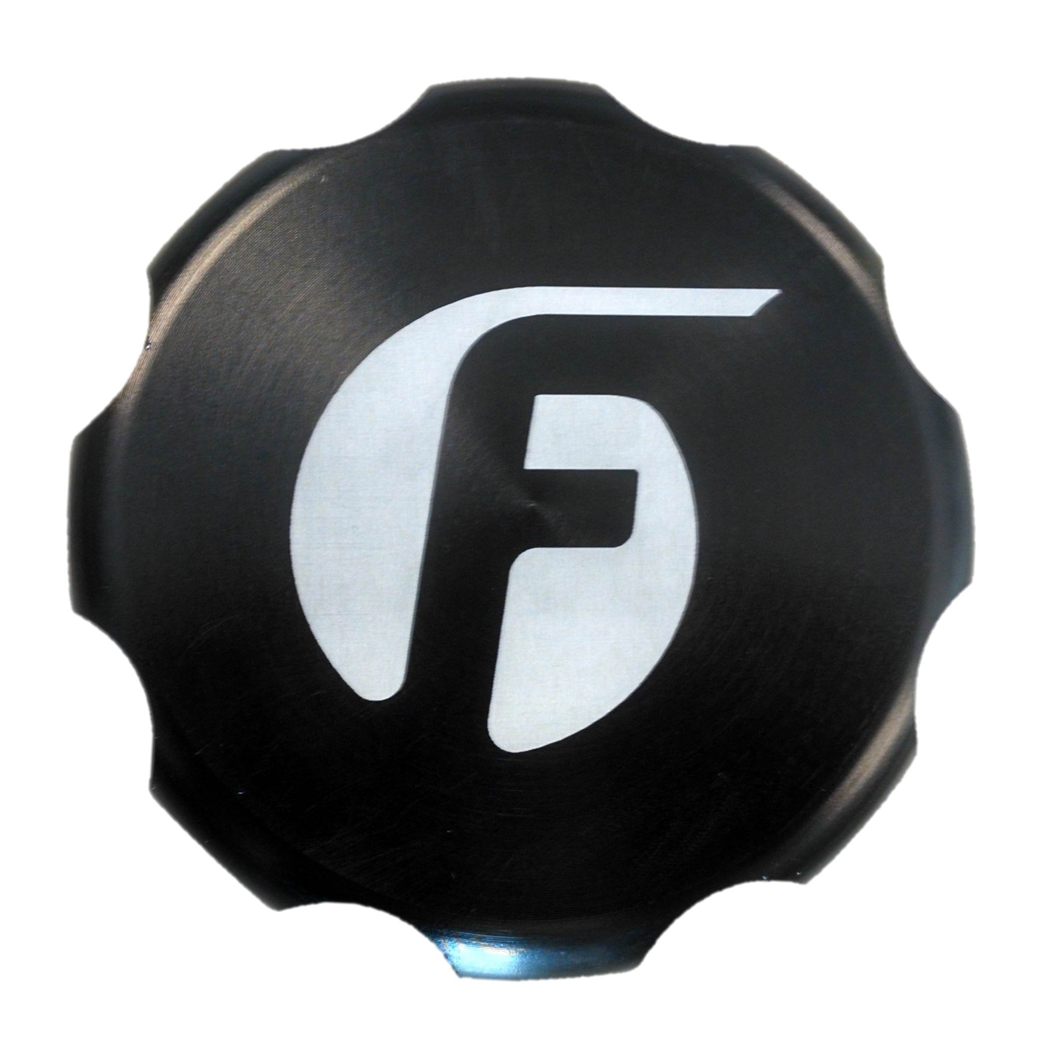 Fleece Performance Cummins Billet Oil Cap Cover - Black - Fleece Performance FPE-OC-CR-F