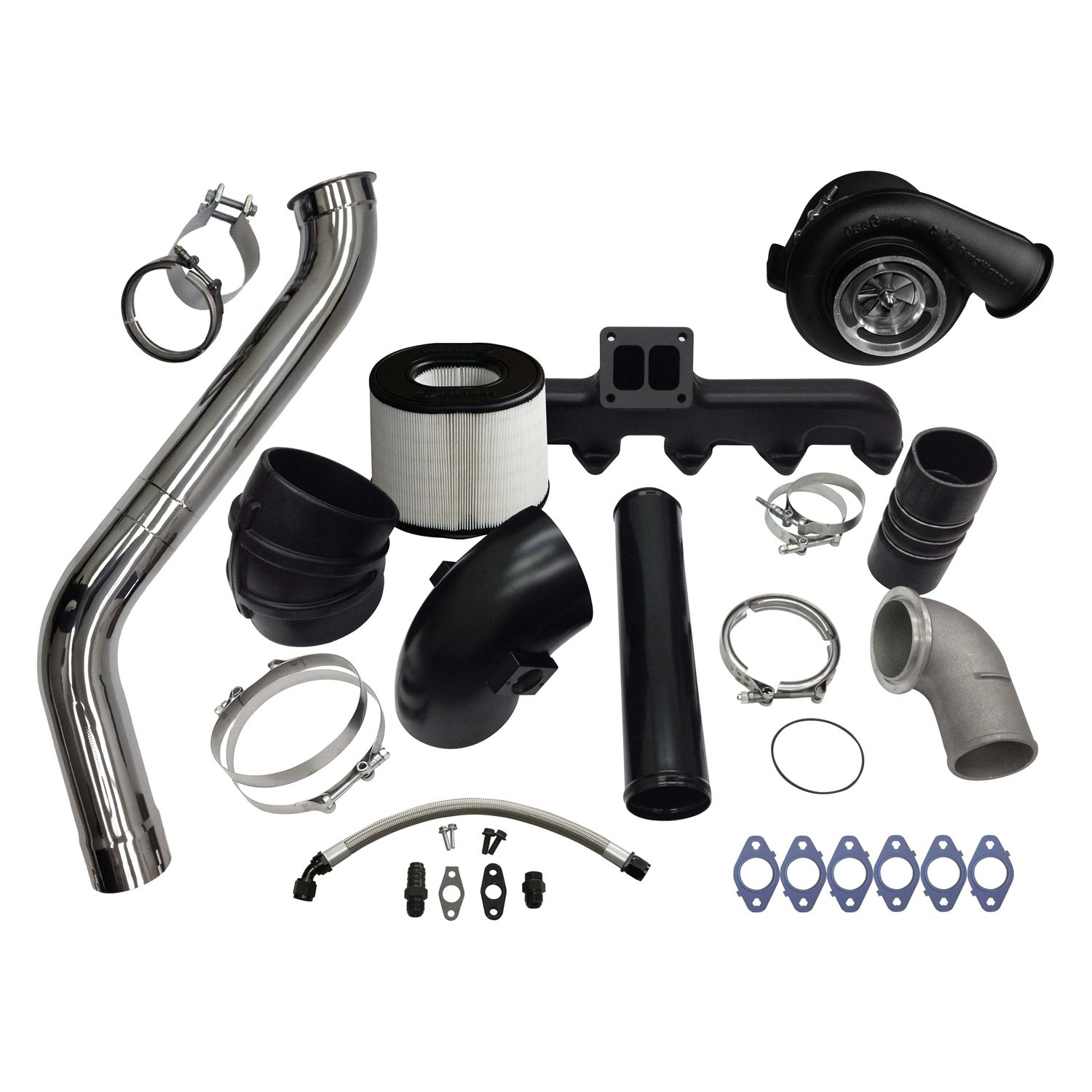 Fleece Performance 2nd Gen Swap Kit & Billet S471 Turbo for 3rd Gen 5.9L Cummins - Fleece Performance FPE-593-2G-71-CM