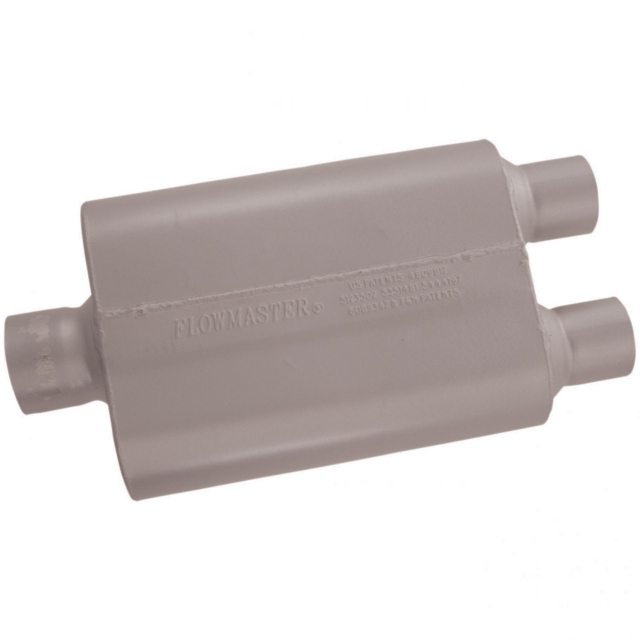 Flowmaster 40 Series Muffler - 3.00 Center In / 2.50 Dual Out - Aggressive Sound - Flowmaster 430402