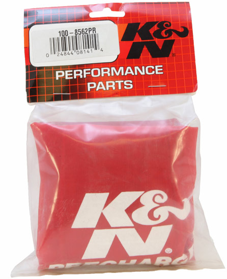 K&N Red Rectangle Straight Precharger Air Filter Wrap - K&N 100-8562PR