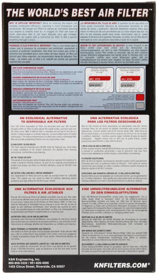 K/&N 33-2383 Replacement Air Filter