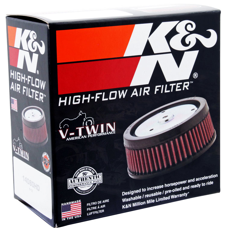 K N Re 0930 Universal Clamp On Air Filter Universal Air: K&N Round Universal Clamp-On Air Filter