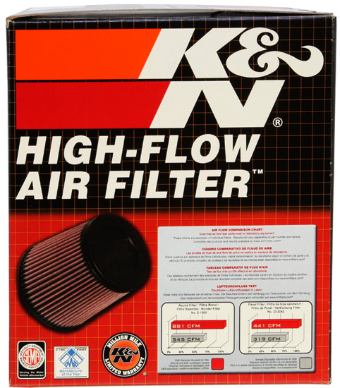 K&N Round Tapered Universal Clamp-On Air Filter - K&N RC-4550