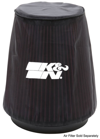 K&N Black Round Tapered Drycharger Air Filter Wrap - K&N 22-8038DK