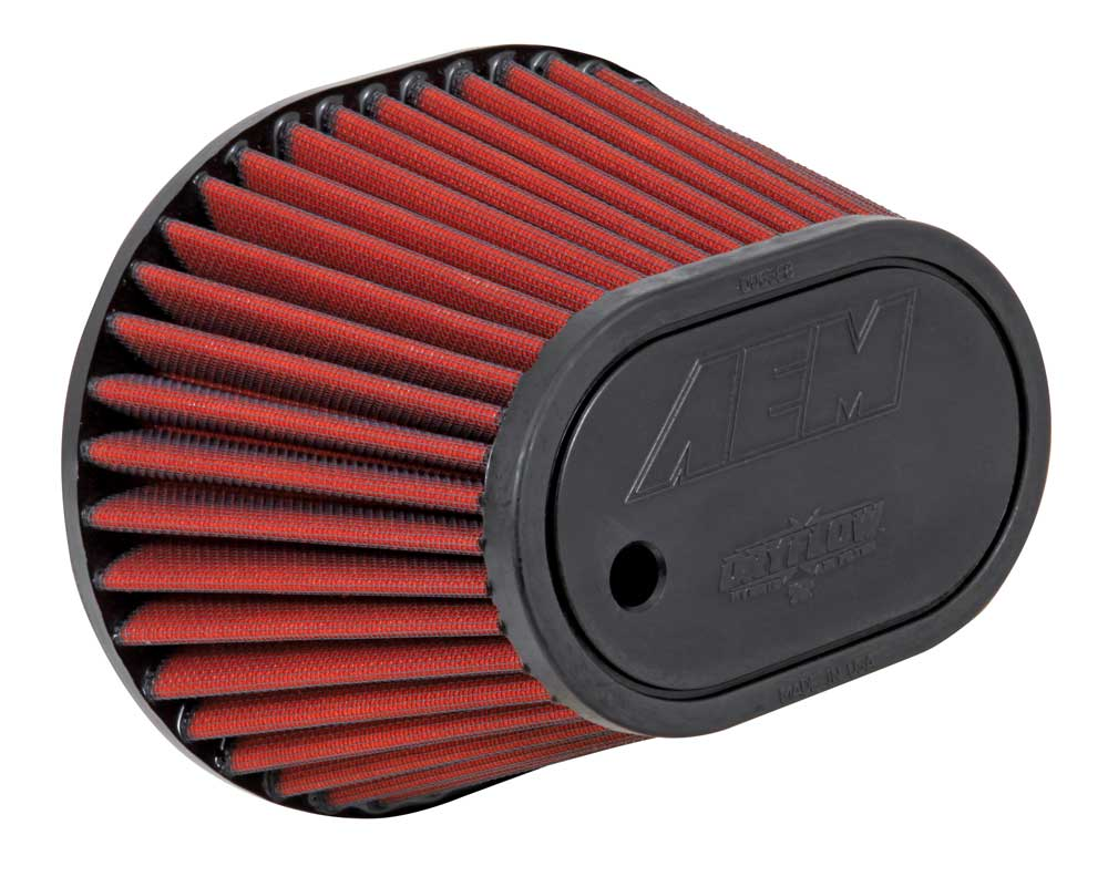 AEM Oval Tapered DryFlow Air Filter - AEM 21-2148D-HK