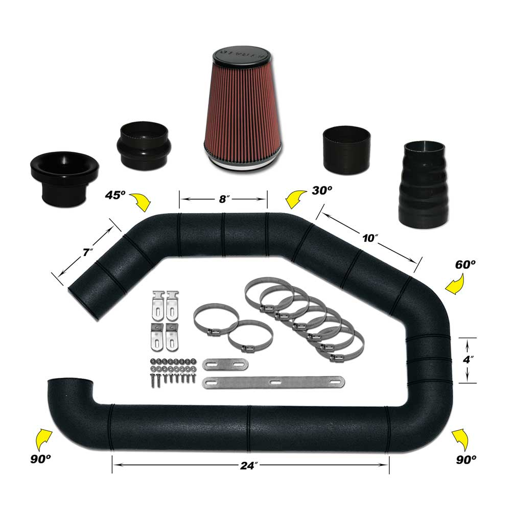 Airaid U-Build-It Universal Intake Kit - Airaid 101-350