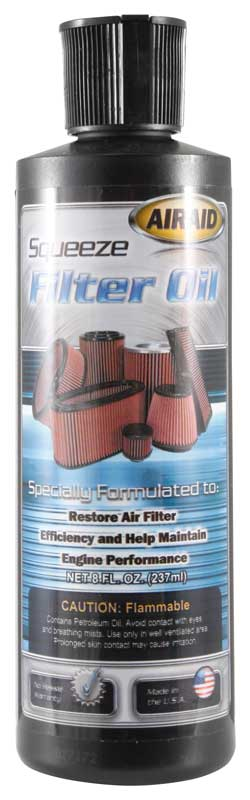 Airaid 8oz Red Squeeze Bottle Air Filter Oil - Airaid 790-555