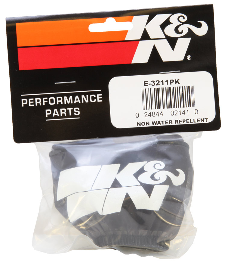K&N Black Round Straight Precharger Air Filter Wrap - K&N E-3211PK