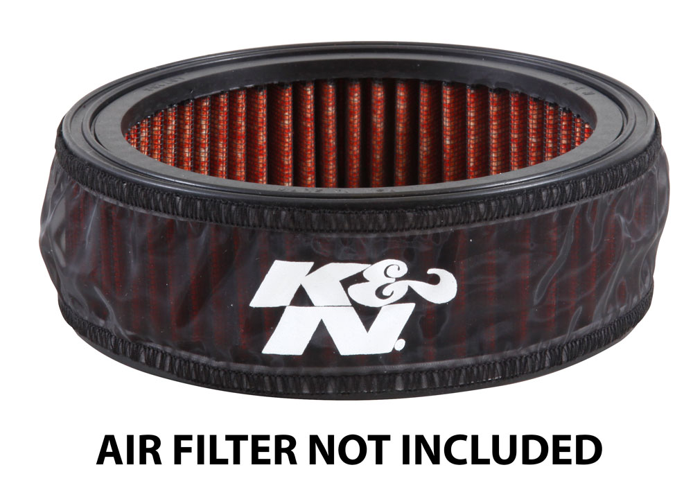 K&N Black Round Straight Drycharger Air Filter Wrap - K&N E-4665DK