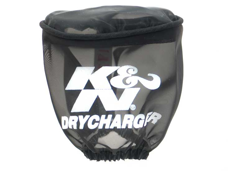 K&N Black Oval Tapered Drycharger Air Filter Wrap - K&N RC-1820DK