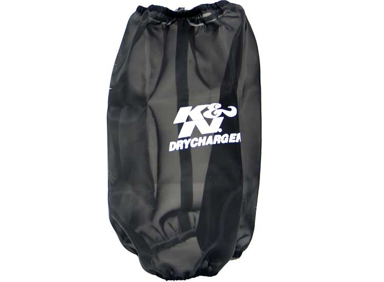 K&N Black Round Tapered Drycharger Air Filter Wrap - K&N RC-4780DK