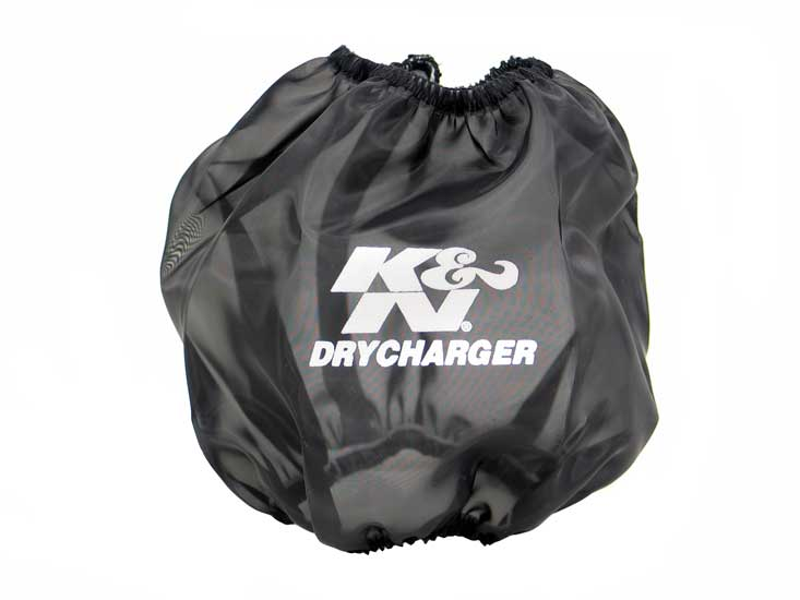 K&N Black Oval Tapered Drycharger Air Filter Wrap - K&N RF-1024DK