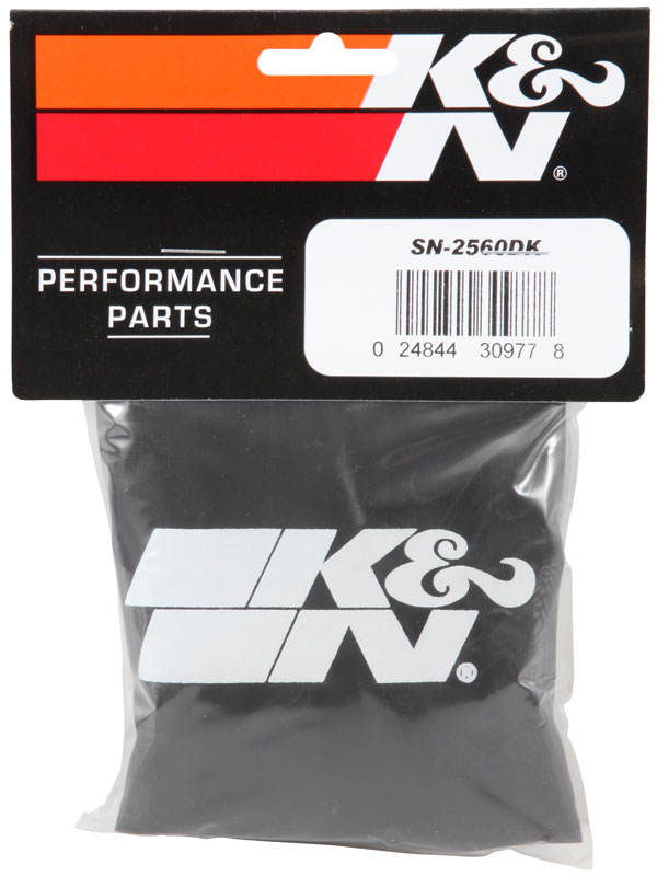 K&N Black Oval Tapered Drycharger Air Filter Wrap - K&N SN-2560DK