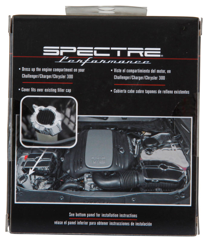 Spectre Silver Windshield Washer Cap Cover - Spectre 42826S