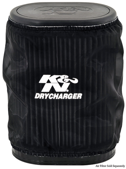 K&N Black Oval Straight Drycharger Air Filter Wrap - K&N YA-7008DK