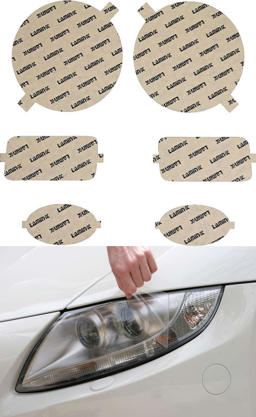 Lamin-X Headlight Covers - Lamin-X MB009