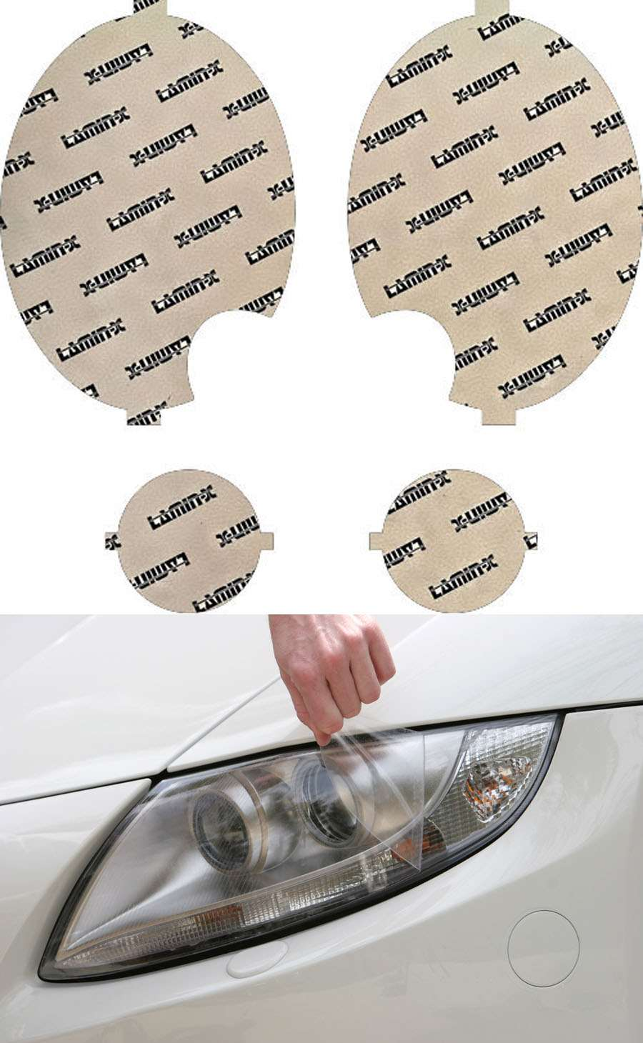 Lamin-X Headlight Covers with Washer Cutout - Lamin-X MN008-1