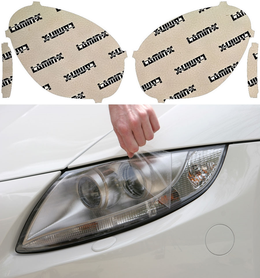 Lamin-X Headlight Covers without Washer Cutout - Lamin-X MN014