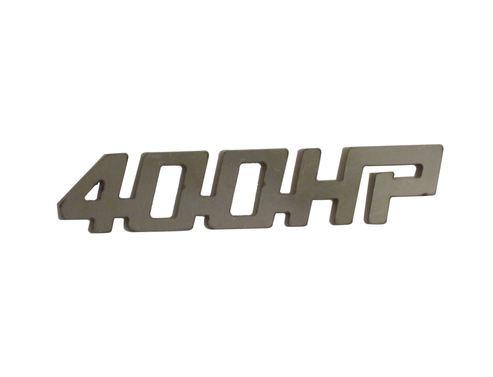 QAA Chrome 400HP Stainless Steel Decal - QAA SGR11003