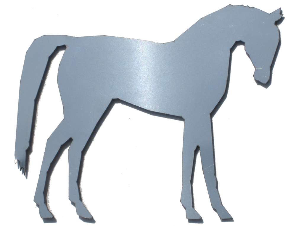 QAA Chrome Horse Stainless Steel Decal - QAA SGR11017