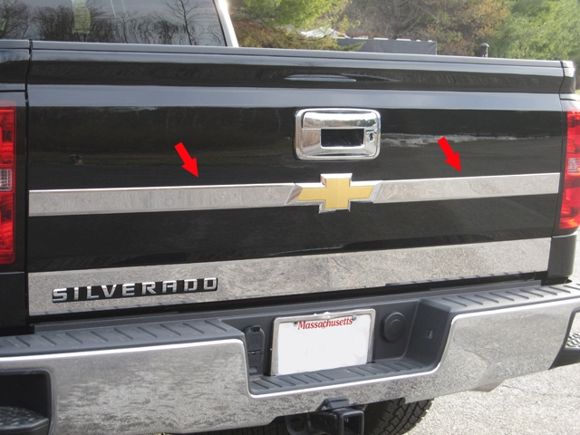 QAA Chrome Upper Tailgate Trim - QAA TP54181