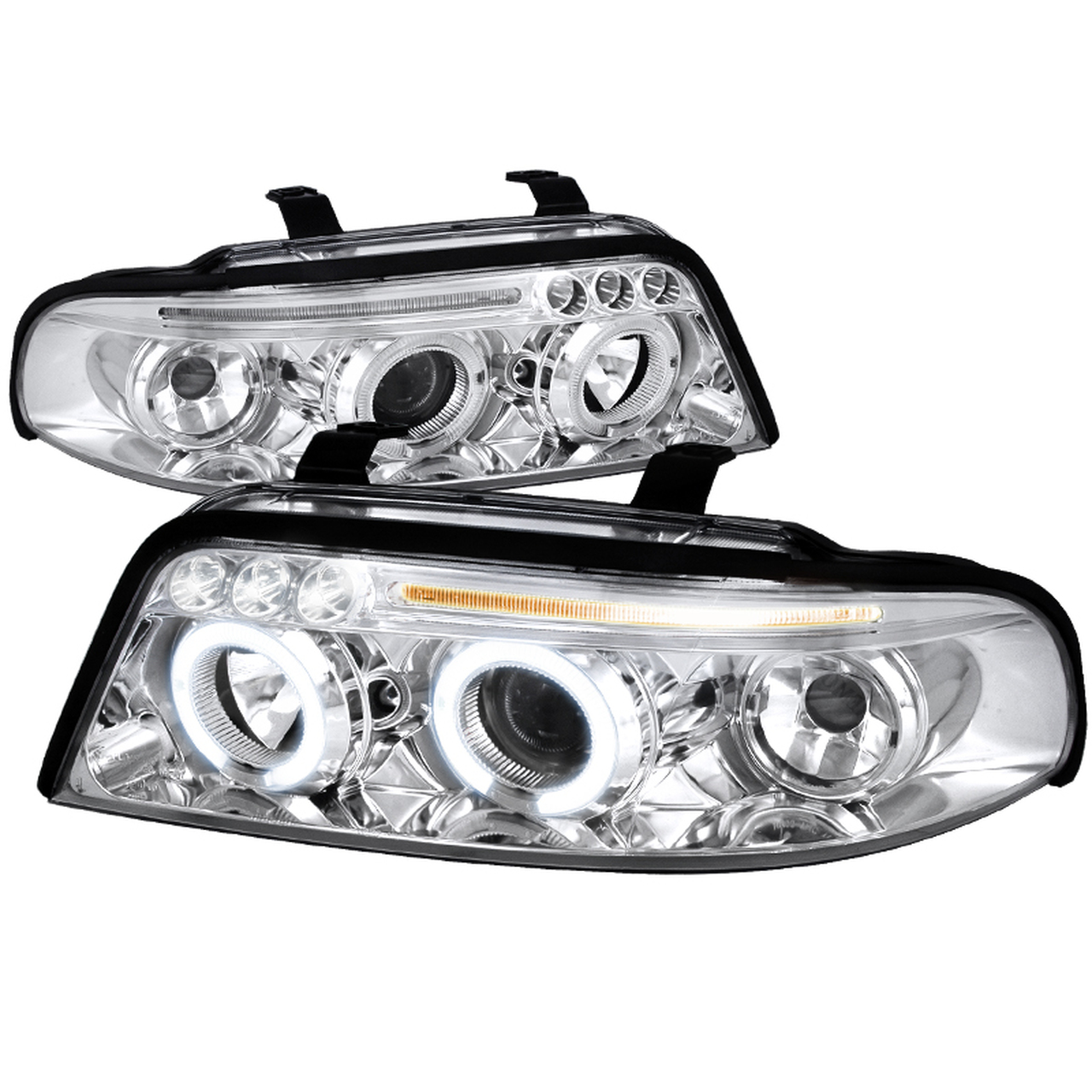 Spec-D Tuning Chrome Halo LED Projector Headlights - Spec-D Tuning LHP-A400-TM