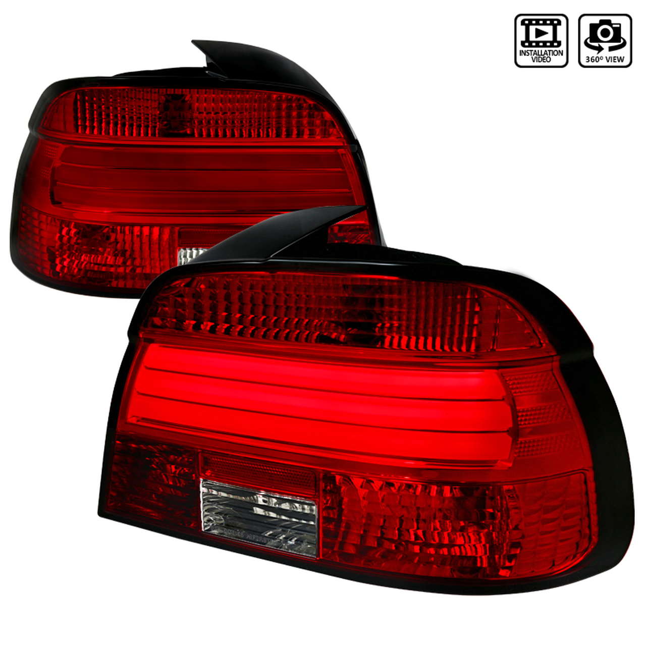 Spec-D Tuning Red LED Tail Lights - Spec-D Tuning LT-E3901RLED-TM