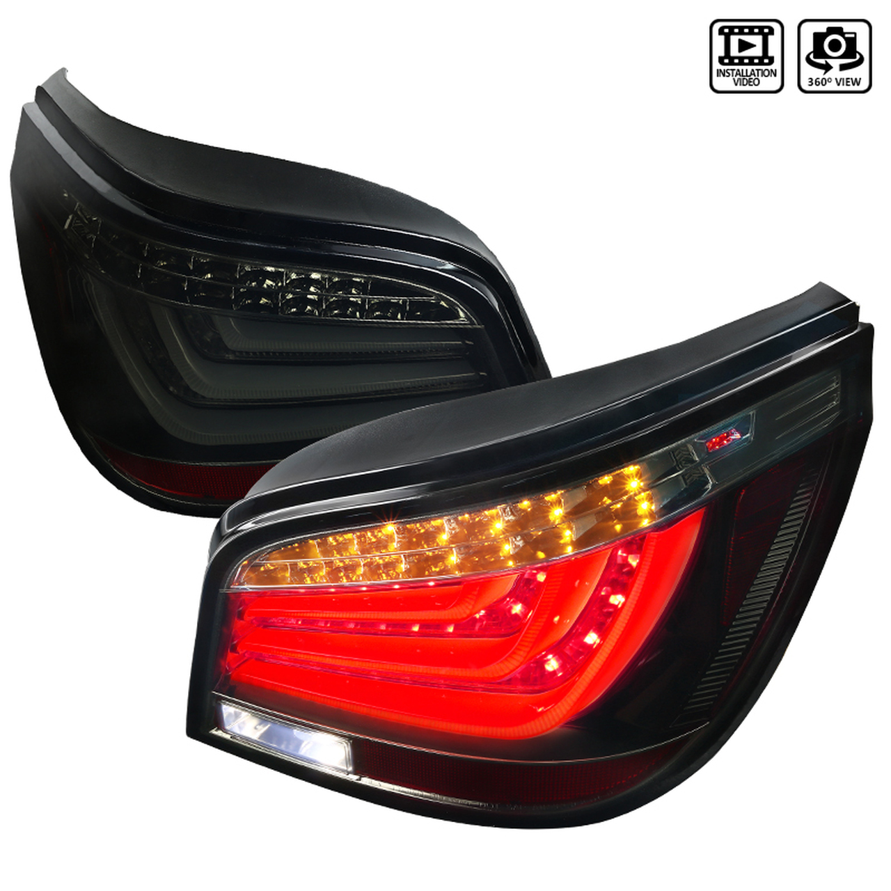 Spec-D Tuning Smoke LED Tail Lights - Spec-D Tuning LT-E6004BBLED-TM