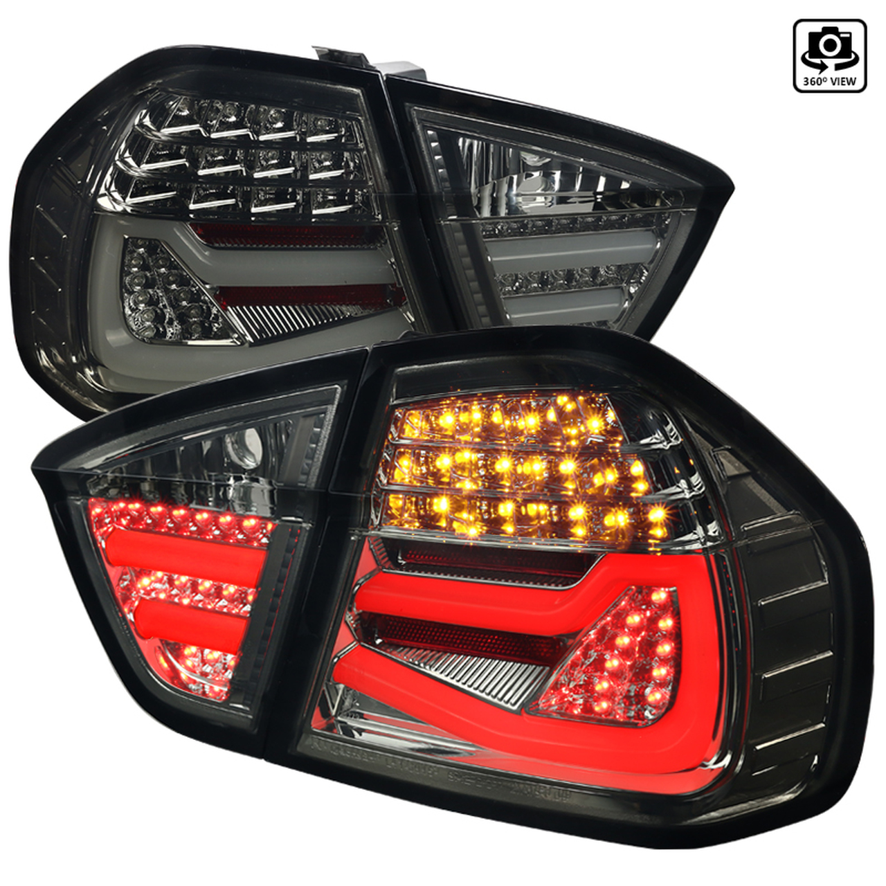 Spec-D Tuning Smoke LED Tail Lights - Spec-D Tuning LT-E9005GLED-TM