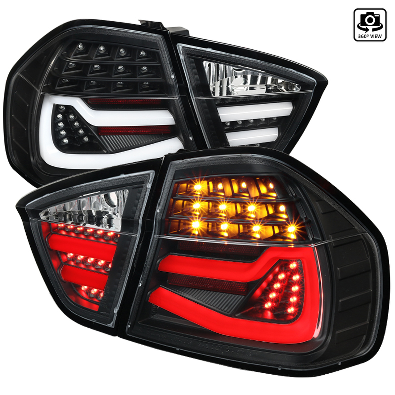 Spec-D Tuning Black LED Tail Lights - Spec-D Tuning LT-E9005JMLED-TM