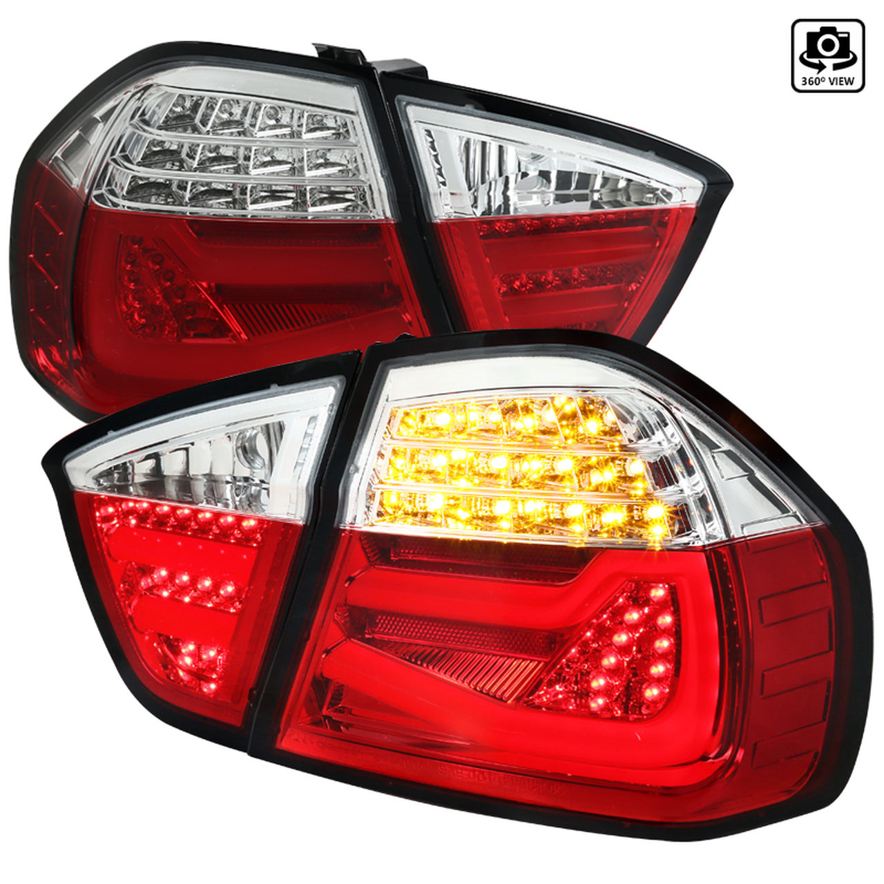 Spec-D Tuning Red LED Tail Lights - Spec-D Tuning LT-E9005RLED-TM