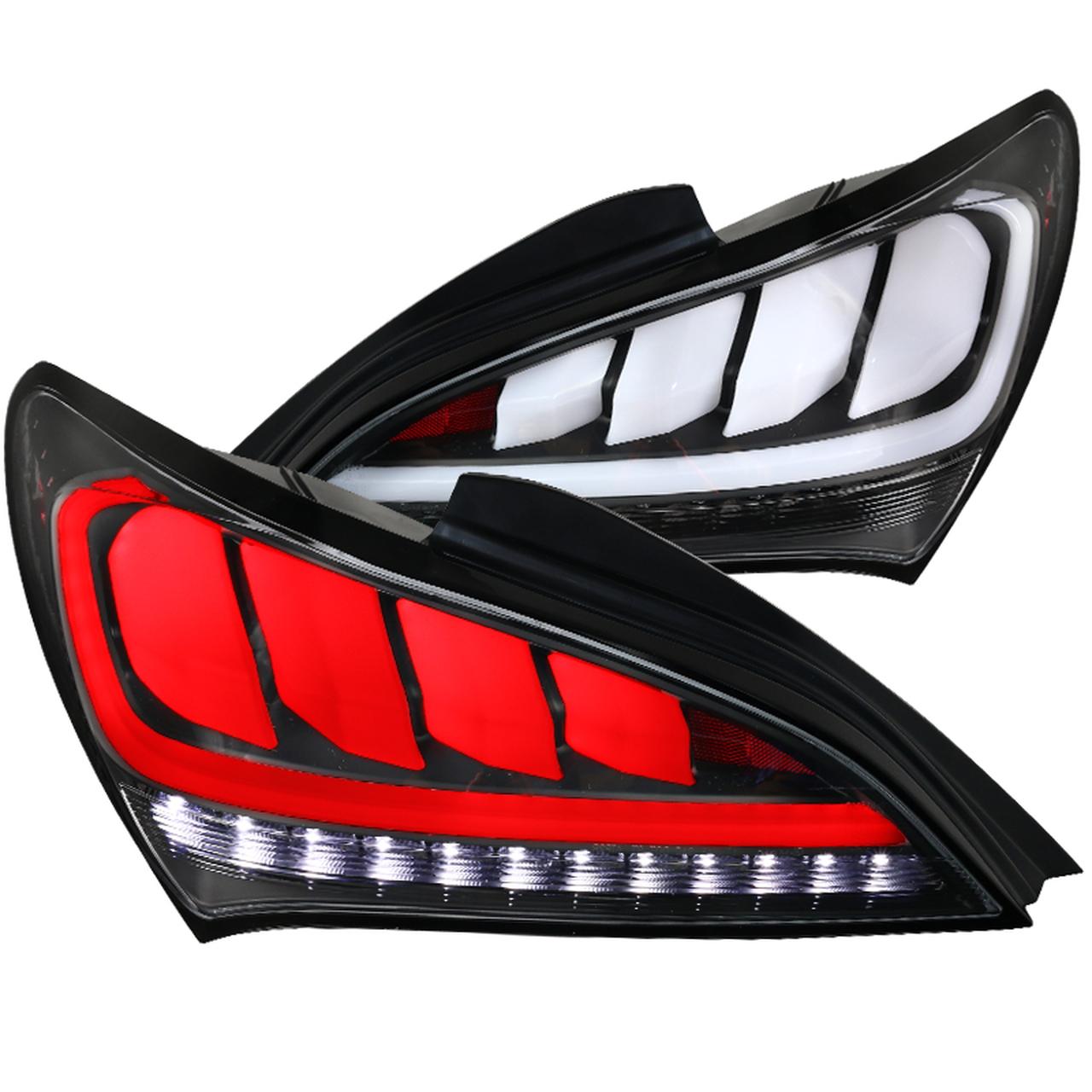 Spec D Tuning Black Sequential Led Tail Lights Lt Gens210jmled Tm
