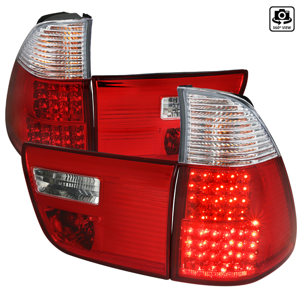 Spec-D Tuning Red LED Tail Lights - Spec-D Tuning LT-X500RLED-OZ