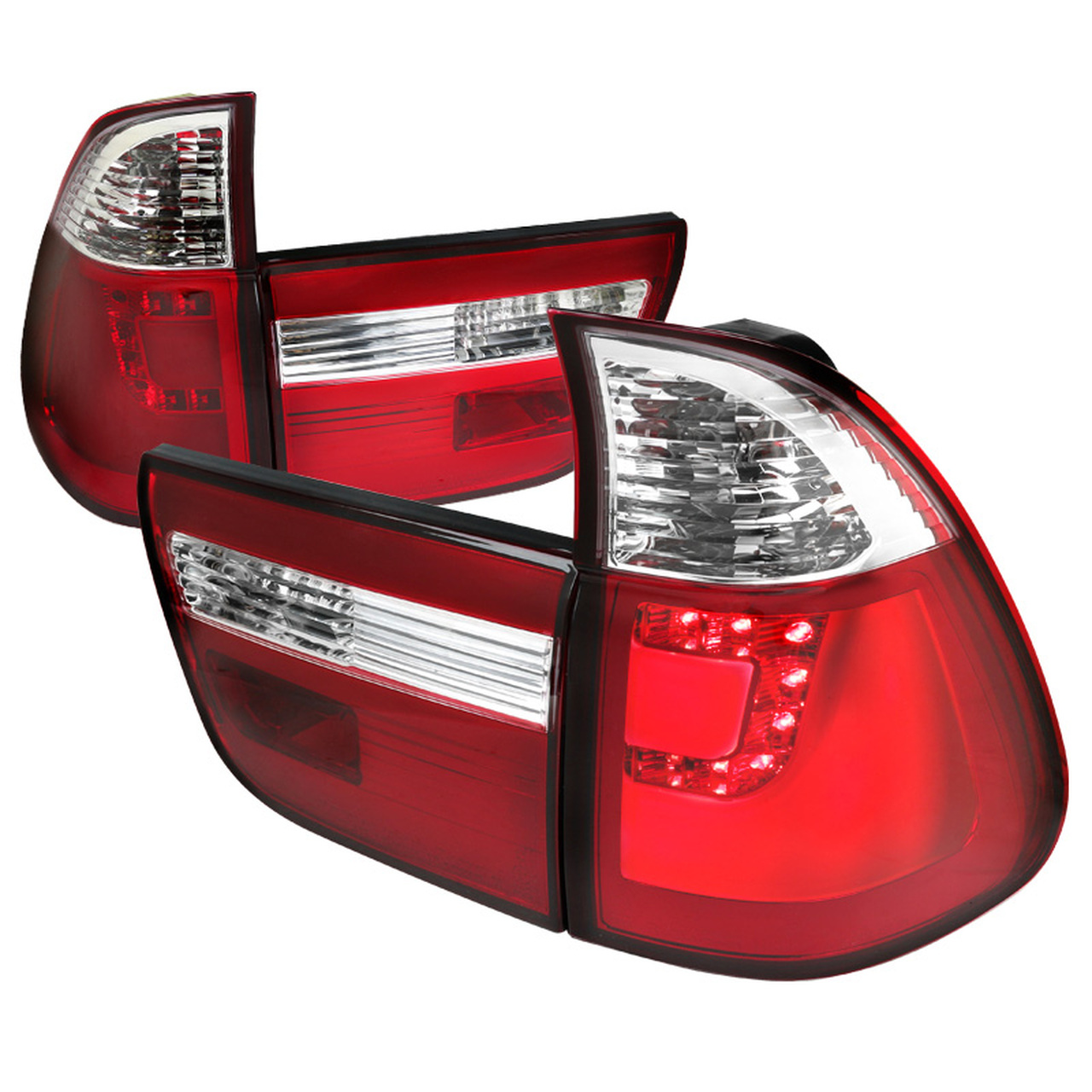 Spec-D Tuning Red LED Tail Lights - Spec-D Tuning LT-X500RLED-TM