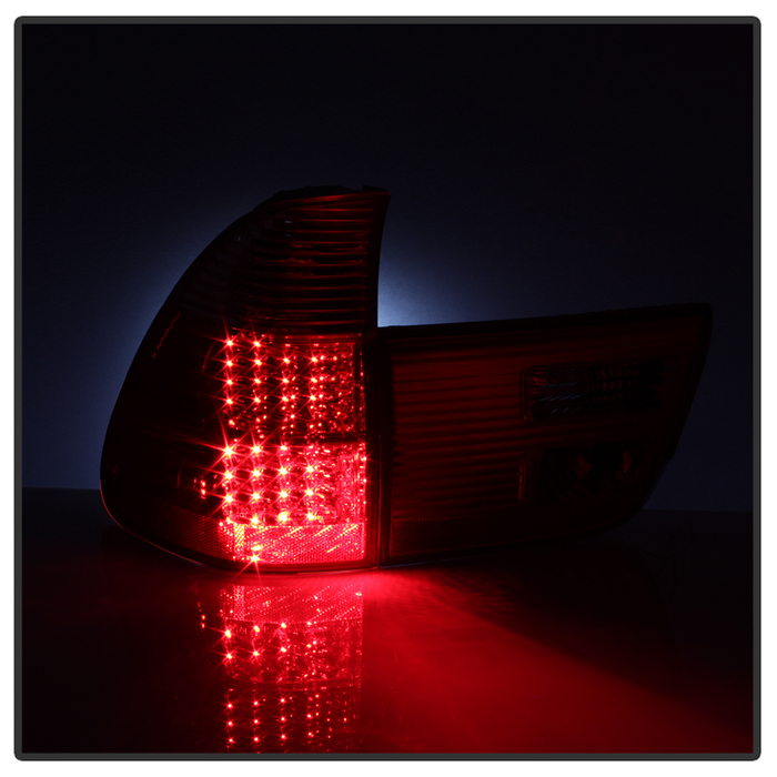 Spyder Red/Clear LED Tail Lights - 4 Pieces - Spyder ALT-JH-BE5300-LED-RC