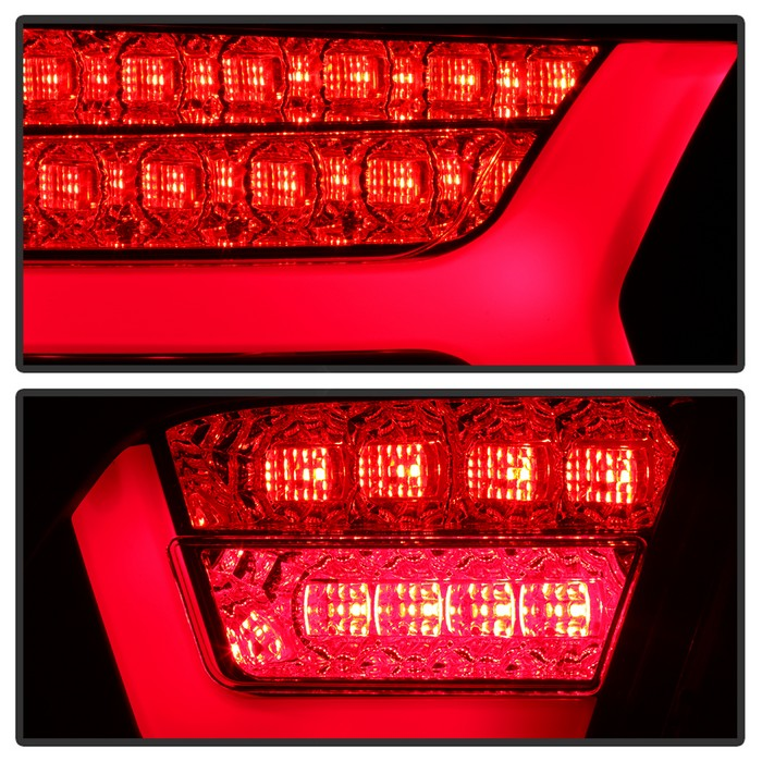 Spyder Red/Clear LED Tail Lights - Spyder ALT-YD-AA609-LED-RC