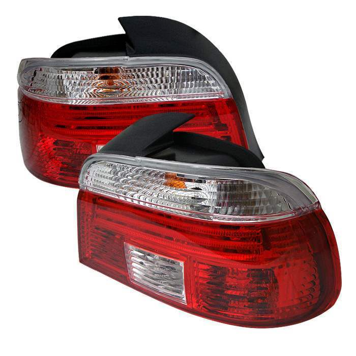 Spyder Red/Clear Euro Tail Lights - Spyder ALT-CI-BE3997-RC
