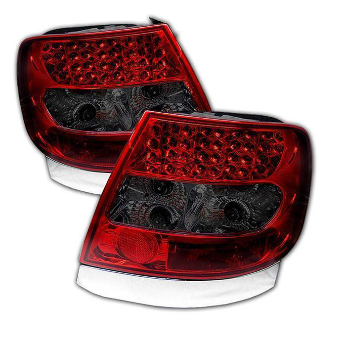 Spyder Red/Smoke LED Tail Lights - Spyder ALT-YD-AA496-LED-RS