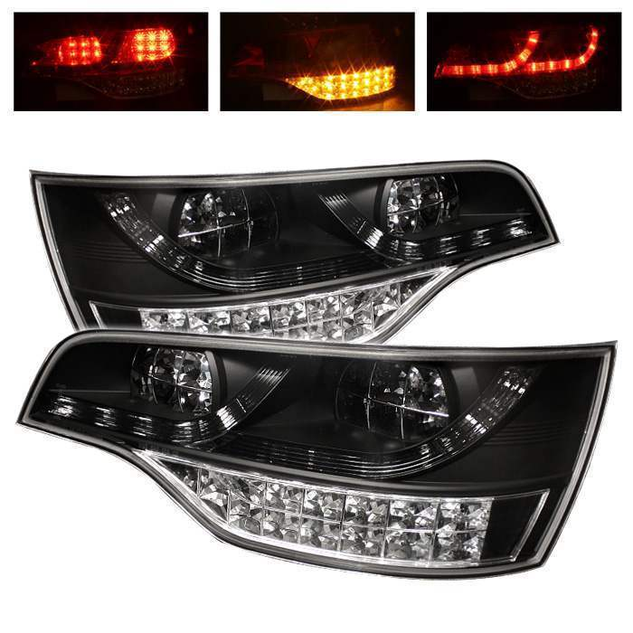 Spyder Black LED Tail Lights - Spyder ALT-YD-AQ707-LED-BK