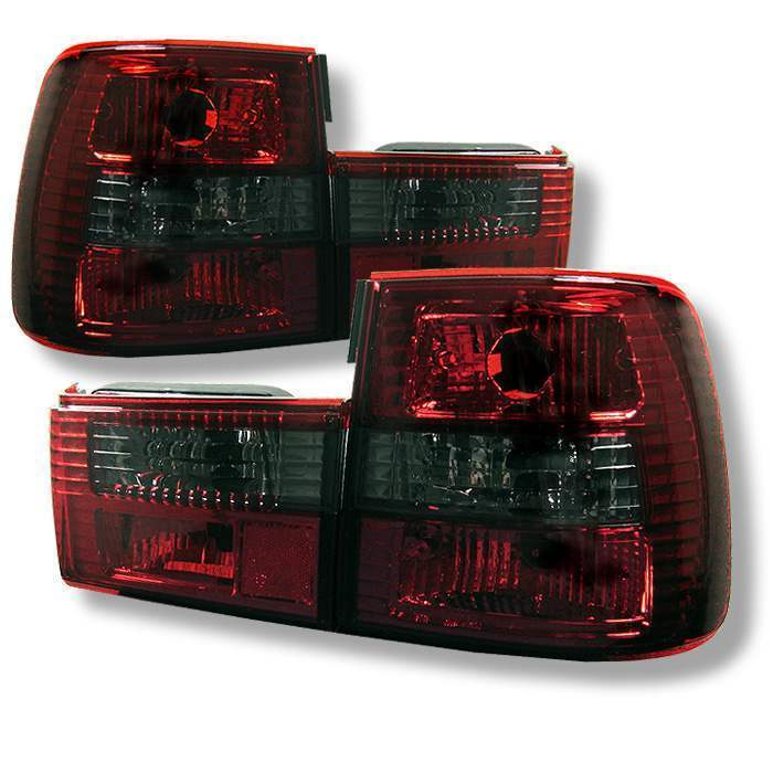 Spyder Red/Smoke Euro Tail Lights - Spyder ALT-YD-BE3488-RS