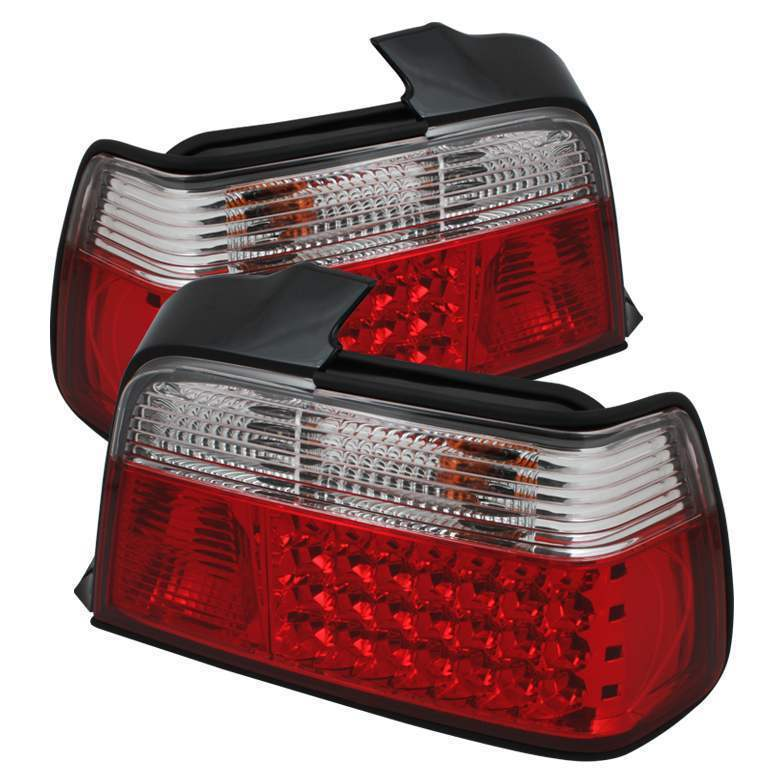 Spyder Red/Clear LED Tail Lights - Spyder ALT-YD-BE3692-4D-LED-RC