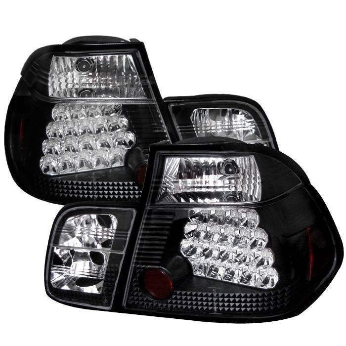 Spyder Black LED Tail Lights - Spyder ALT-YD-BE4699-4D-LED-BK